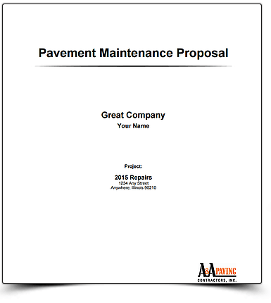 Pavement Mantinance proposal