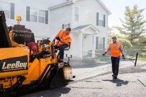 A&A Paving crew in a HOA Community