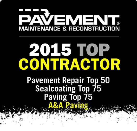 Top Contractor of 2015 - A & A Paving