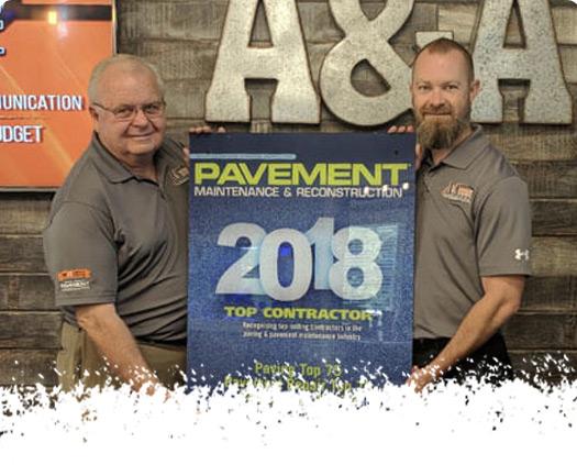 2018 Pavement Award Ceremony - A & A Paving