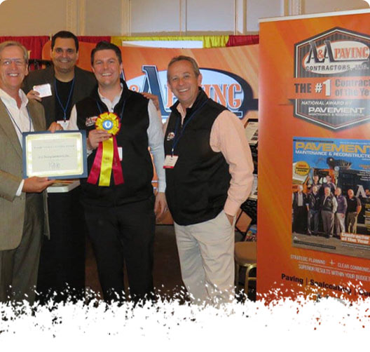 Top Contractor Award Ceremony - A & A Paving