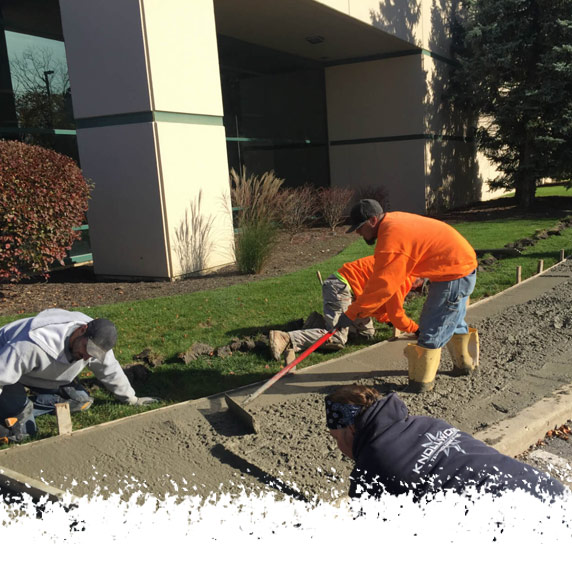 Crew Working Concrete - A & A Paving