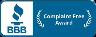 BBB Complaint Free Award - A & A Paving