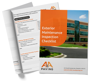 Book Exterior Maintenance Inspection Checklist - A & A Paving